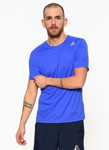 Reebok Bisiklet Yaka Tişört Mavi